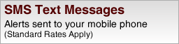 Alerts sent to your mobile phone